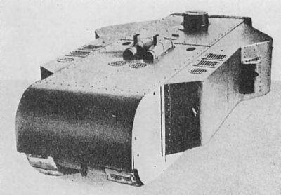 Prototyp prvního obřího tanku Kolossal-Wagen.