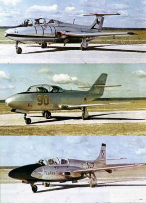 L-29 Delfín, Jak-30 a TS-11 Iskra