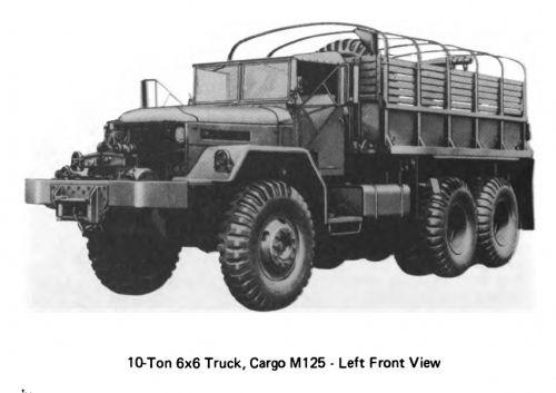 M125 10-ton 6x6 trucks