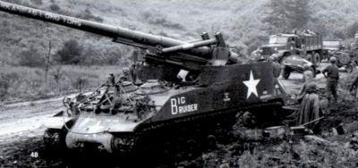 Samohybné houfnice M40 se rozsáhle uplatnily i v korejské válce
