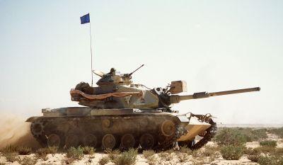 Tank M60A1 egyptské armády při cvičení v americké poušti