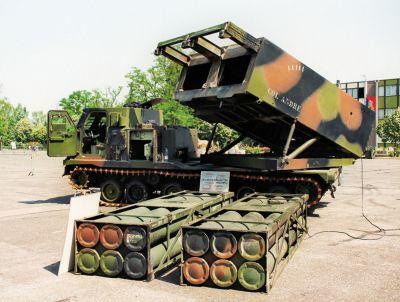 Raketomet MLRS z výzbroje francouzské armády