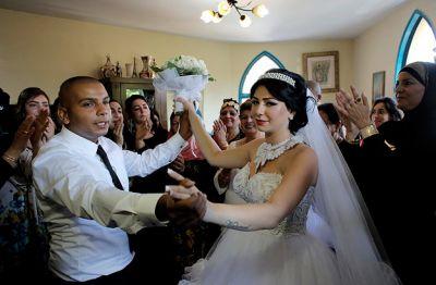 tančící novomanželé
