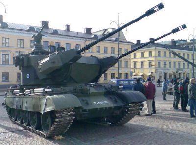 Věž Marksman na šasi tanku T-55AM finské armády