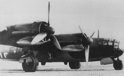 Německý těžký bombardér Messerschmitt Me 264 byl vyvíjen také jako nosič nukleárních zbraní pro útok na americký kontinent.