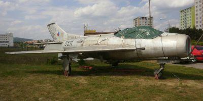 """Letoun MiG-19S (u nás přezdívaný """"Golem"""") v Technickém muzeu v Brně"""