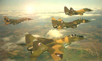 Čtveřice frontových stíhaček čtvrté generace Mikojan-Gurjevič MiG-29A