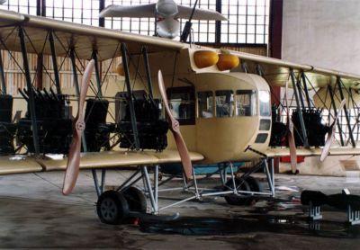 Krásná replika letounu Ilja Muromec je k vidění v muzeu Monino