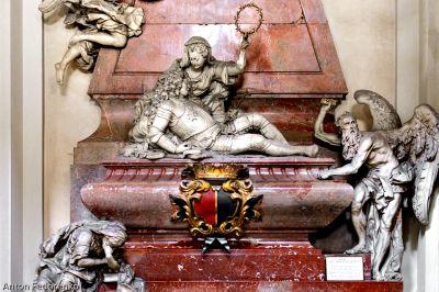 Náhrobek Václava Vratislava z Mitrovic v kostele sv. Jakuba Většího v Praze