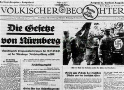 noviny - Norimberské zákony