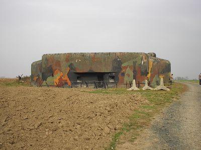 Pěchotní srub budovaný na severní hranici Československa