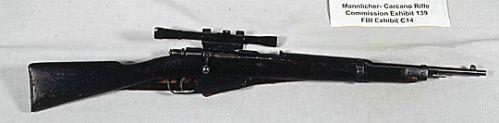 Carcano Modello 1891/38 použitý při atentátu