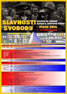Oslavy 70. výročí konce II. světové války na Písecku (1.-10.5.2015)