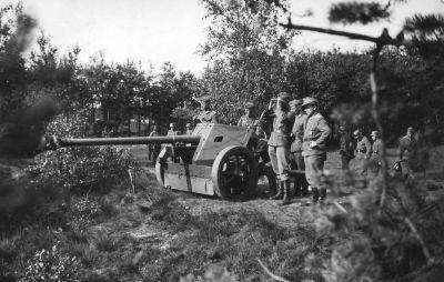 75mm kanon PaK 40 se vyznačoval charakteristickým pancéřovým štítem
