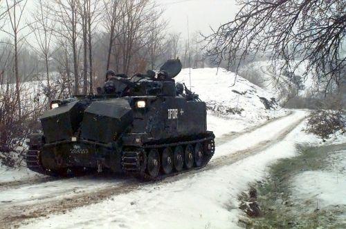 Pansarbandvagn 302 (Pbv 302) během mise v Bosně a Hercegovině