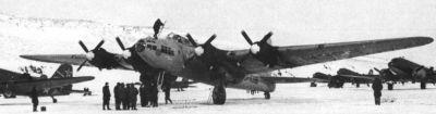 Po válce se bombardéry Pe-8 uplatnily mj. při polárních expedicích