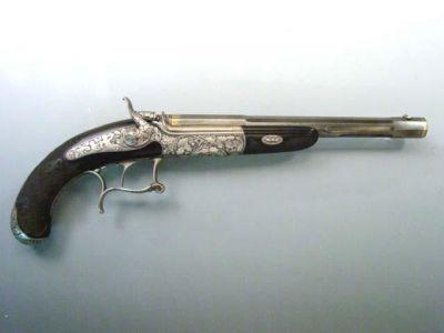 """Pistole """"Lebedovka"""" vyrobená se vší pravděpodobností pro Františka Ferdinanda d´Este"""