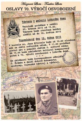 Hroznová Lhota Oslavy Vernisáž výstavy (29.3.2015) a 70. výročí osvobození (12.4.2015)