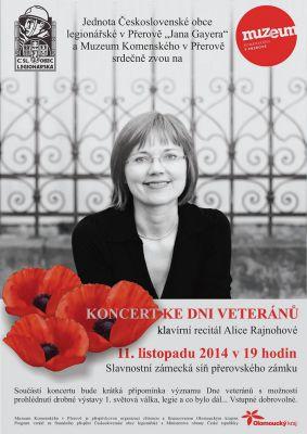 Koncert ke dni veteránů - klavírní recitál Alice Rajnohové (11.11.2014)