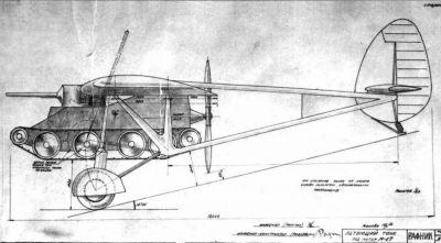 """""""Létající tank"""" BT-2 inženýra Rafaeljance"""