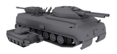 Srovnání modelu P.1000 Ratte s tankem Panther