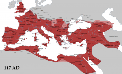 Římská říše za vlády císaře Traiana (117)