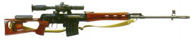 Základní podoba pušky SVD s optickým zaměřovačem PSO-1