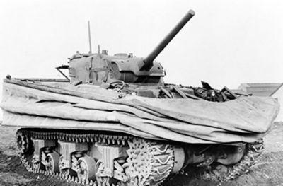 Obojživelný plovoucí tank Duplex Drive Sherman