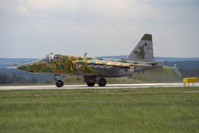 """Snad nejslavnější exemplář bitevníku Su-25K, známý pod přezdívkou """"Žabák"""""""