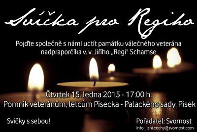 Pietní akce Svíčka pro Regiho (15.1.2014)