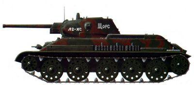 T-34 se 76mm kanonem v podobě z roku 1942