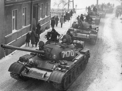 T-55A za staného práva v Polsku