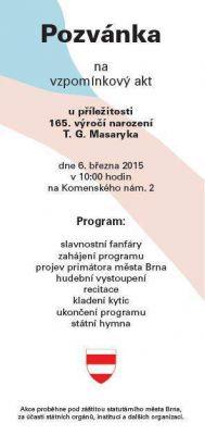 165. výročí narození TGM - Brno (6.3.2015)