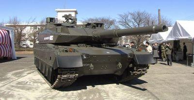 Prototyp japonského tanku Type 10 z roku 2008