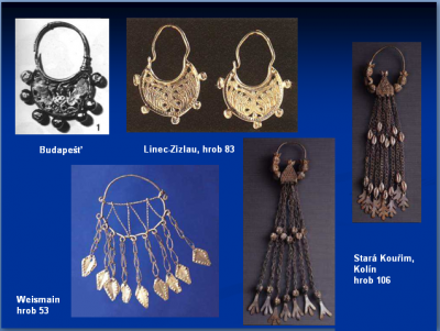 archeologické nálezy slovanských šperků v Bavorsku