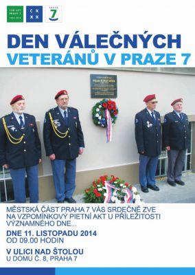 Den válečných veteránů v Praze 7 (11.11.2014)