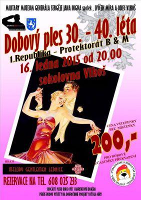Dobový ples 30. - 40. léta (16.1.2015, Vlkoš)