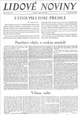 Lidové noviny 1. října 1938