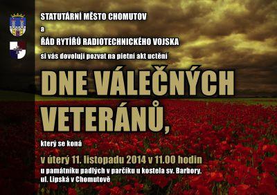 Den válečných veteránů v Chomutově (11.11.2014)