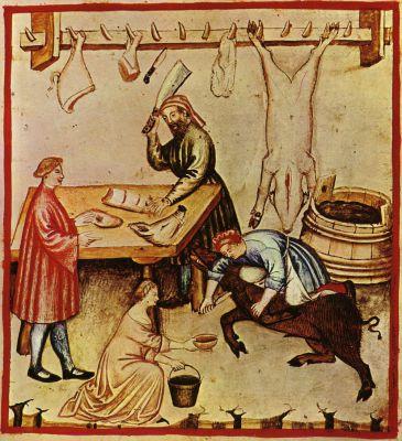 Řezník (středověká miniatura)