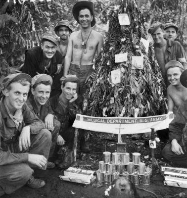 Vojáci a Vánoce v Tichomoří