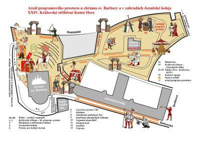 Plán programového prostoru XXIV. Královského stříbření
