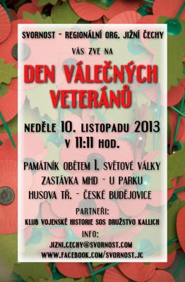 Den válečných veteránů 10.11.2013
