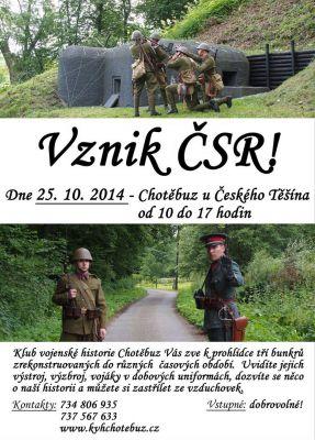 Vznik ČSR - Chotěbuz (25.10.2014)