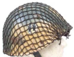 Italská helma s kamuflážní síťkou