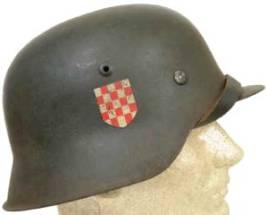 Přilba M42 (chorvatský dobrovolník)