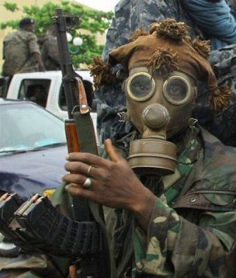 africký voják