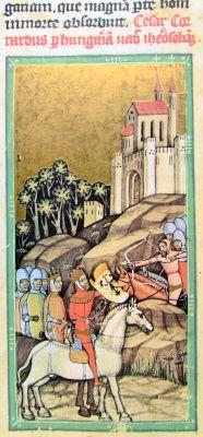 Konrádova armáda projíždí Uherskem