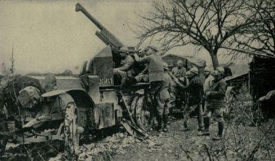 Mobilní protiletadlový kanon využívající upravený Canon de 75 Modèle 1897