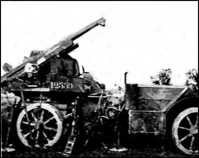 l'auto canon de 75 De Dion Bouton modèle 1913